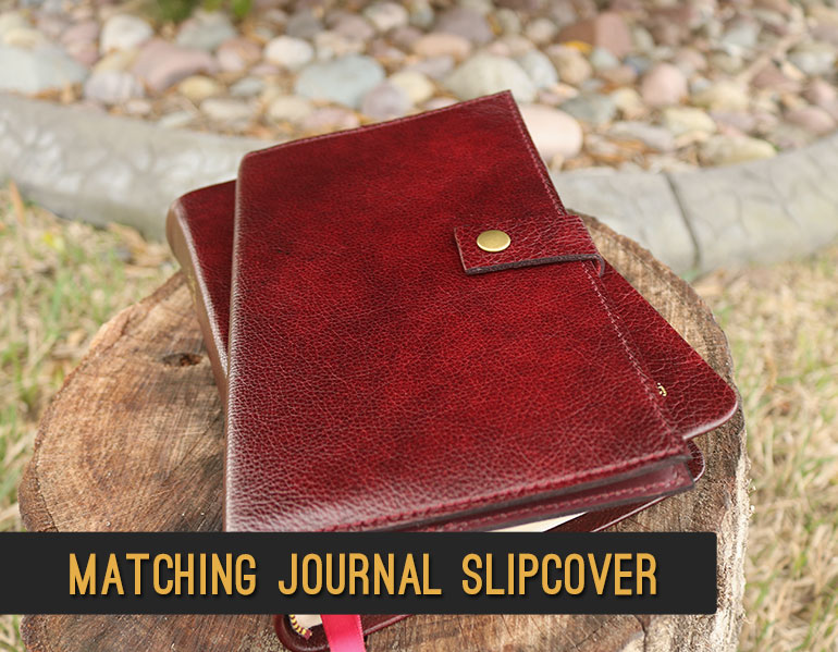 Matching Leather Journal Slipcover