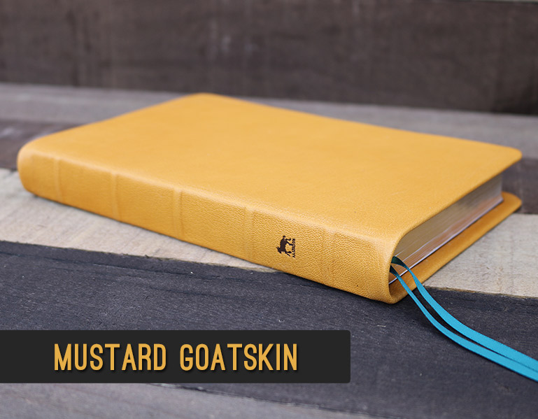 Rebind Your Bible In Mustard Yellow Goatskin Leather