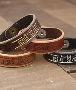 Jesus Saves Genuine Leather Bracelets
