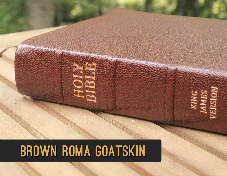 Repair and Recover your Bible in Brown Roma Goatskin Leather
